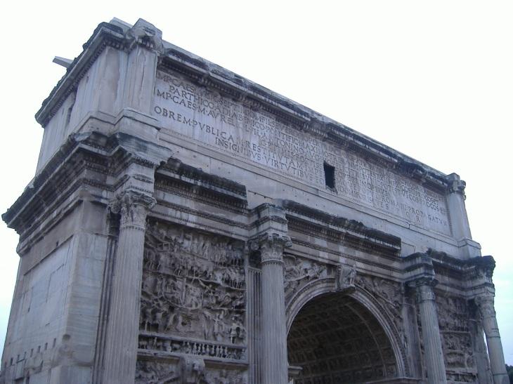 Forum Romanum: The Arch of Septimus Severus.