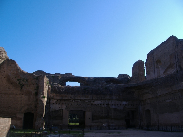 The Baths of Caracalla under an amazingly blue sky. #1