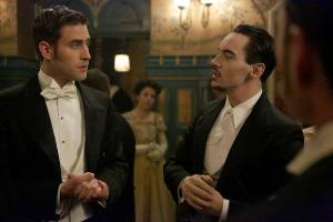 Jonathan Harker and Alexander Grayson at the engagement party
