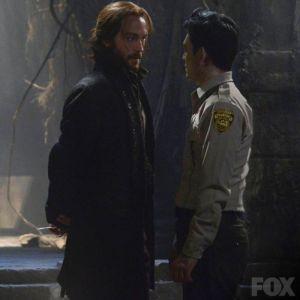 Ichabod threatens Andy Brooks (John Cho)