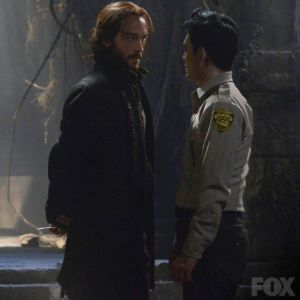 Ichabod threatens Andy Brooks (John Cho)