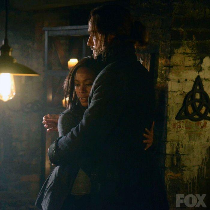 Abbie hugs Crane after he is saved