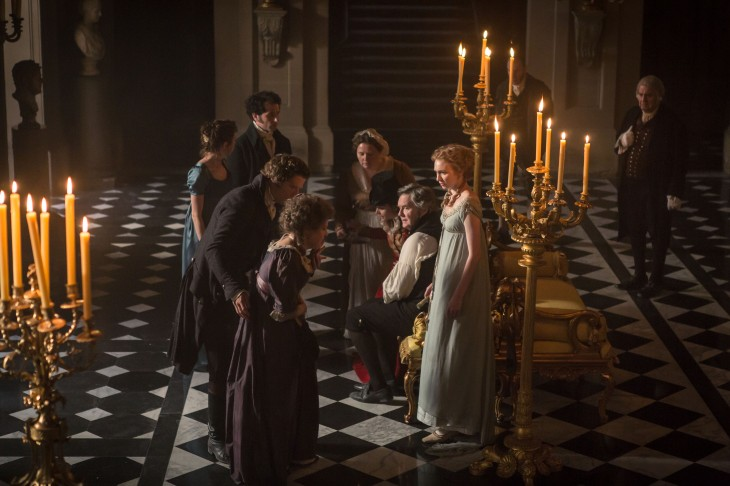 Lydia arrives at Pemberley, in hysterics