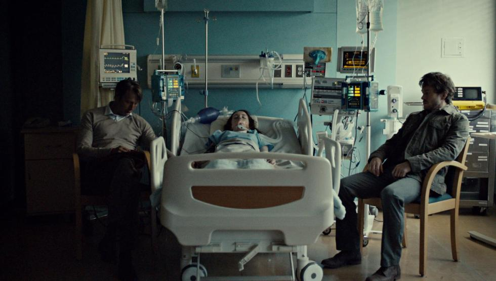 Will and Hannibal at Abigail's hospital bed