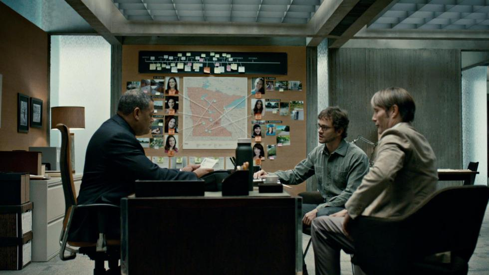 Jack, Will, and Hannibal in Jack's office at the BAU