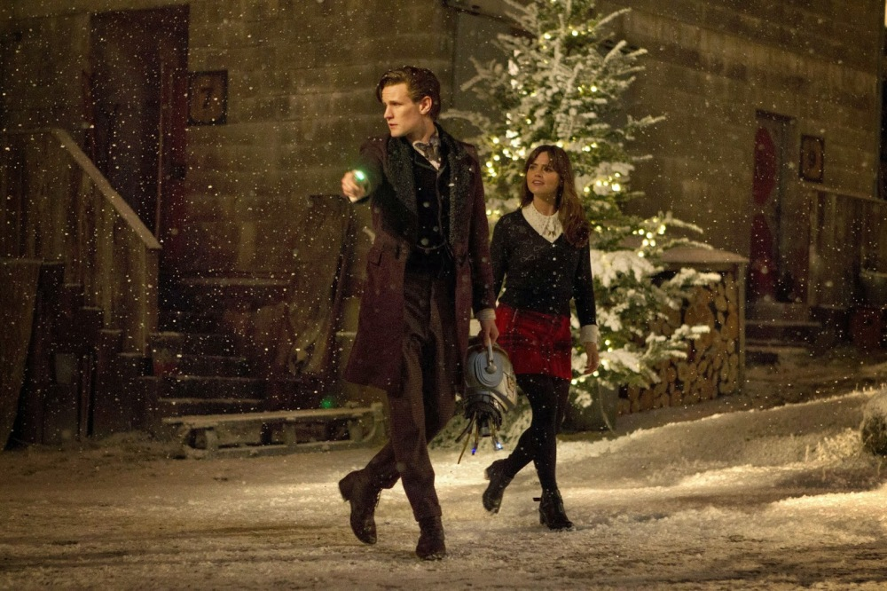 The Doctor and Clara on Trenzalore