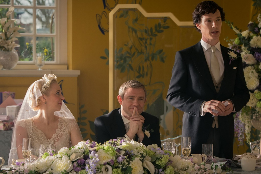 Sherlock, John, and Mary -- and the best man's speech.
