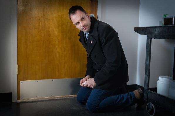 Jonny Lee Miller, playing Sherlock Holmes