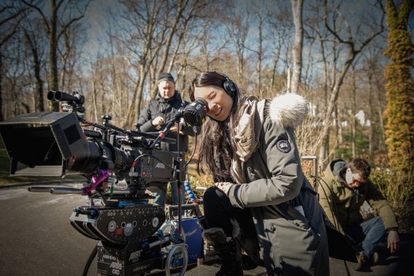 Lucy Liu behind the camera