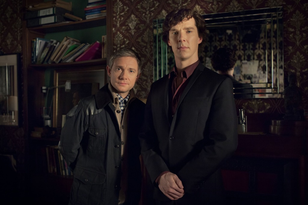 Sherlock and John in a promo pic for Series 3