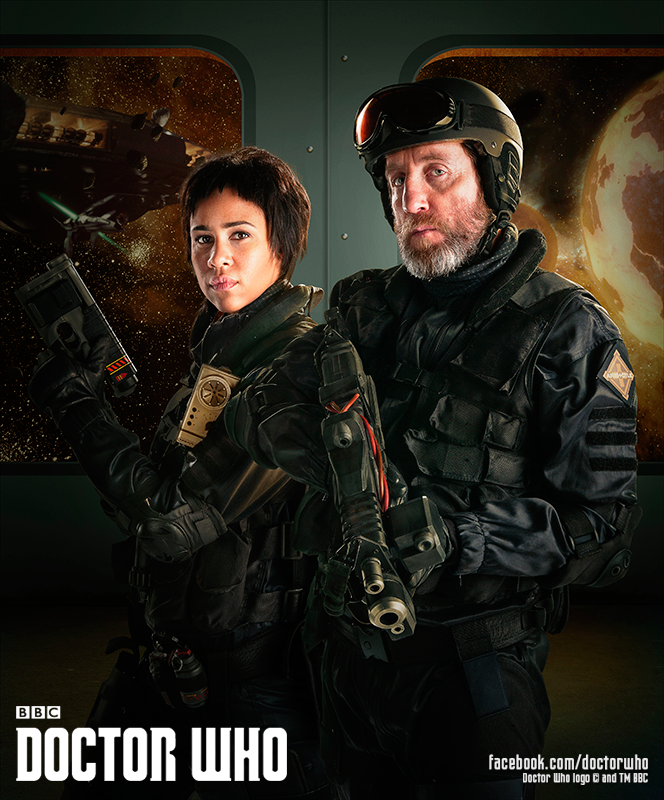 Zawe Ashton and Michael Smiley guest star on Into the Dalek