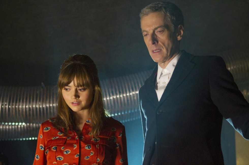 The Doctor and Clara inside the Dalek