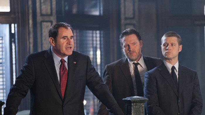 The Mayor of Gotham, Bullock, and Gordon