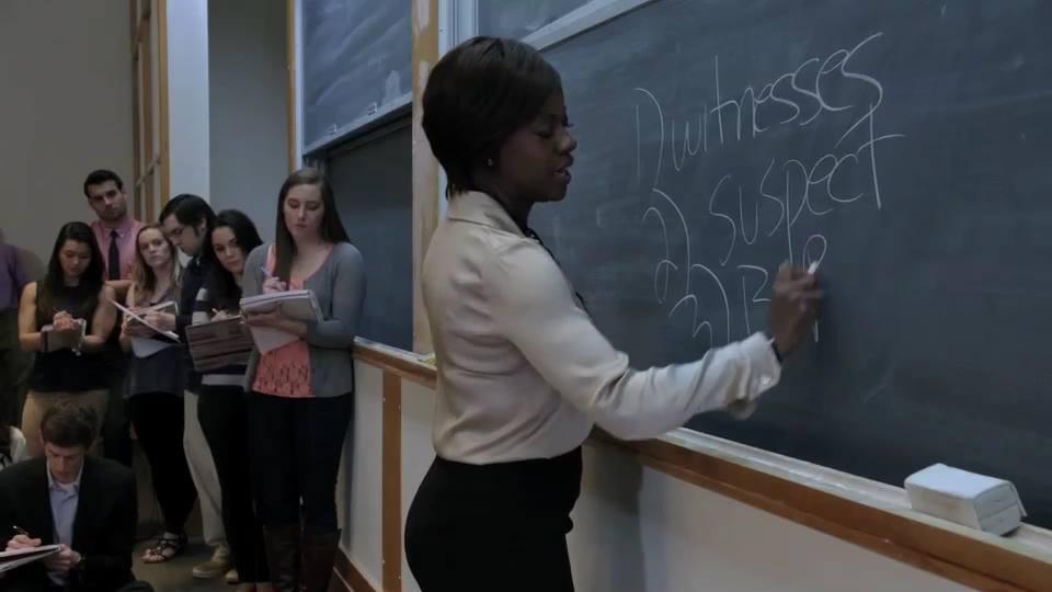 Viola Davis plays Professor Annalise Keating