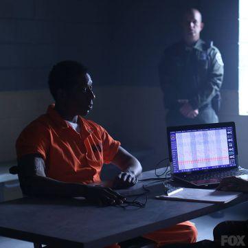 Captain Irving taking a lie detector test