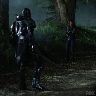 Abbie fighting the Horseman of War