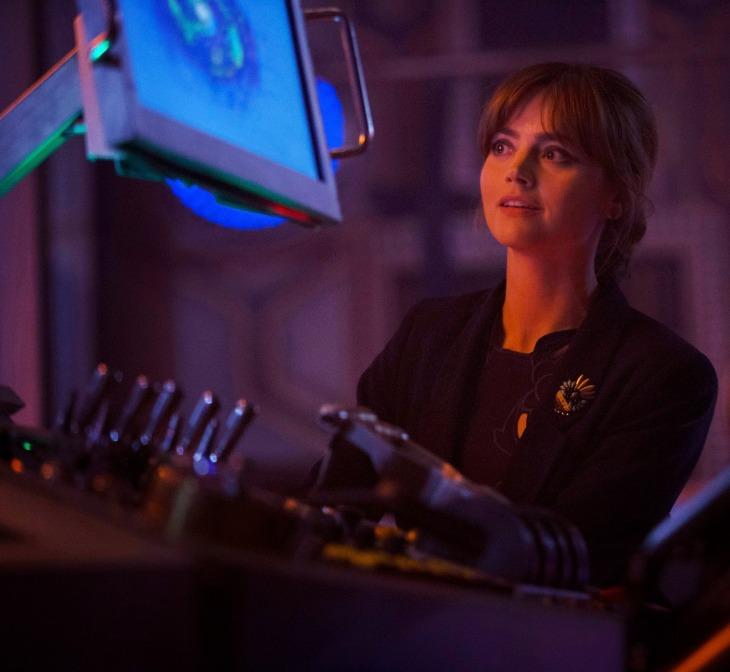 Clara in the TARDIS
