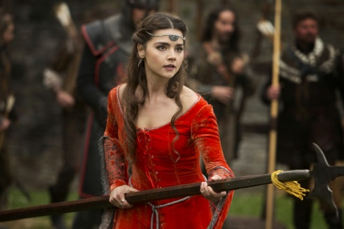 Clara, ready to fight the Robots of Sherwood.
