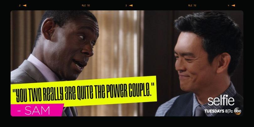 David Harewood and John Cho in 'Selfie'