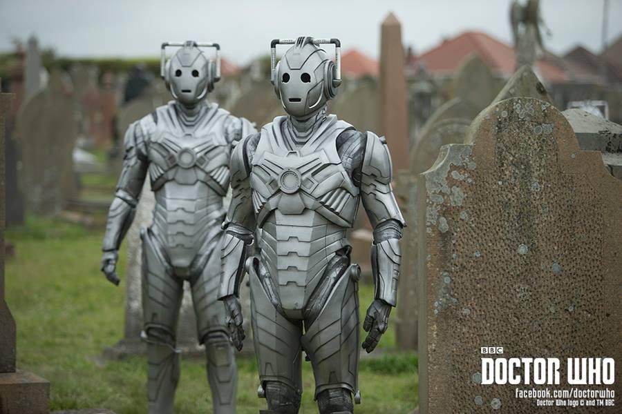 Cybermen zombies in a graveyard. Nope.