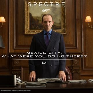 Ralph Fiennes plays Gareth Mallory as 'M' in SPECTRE