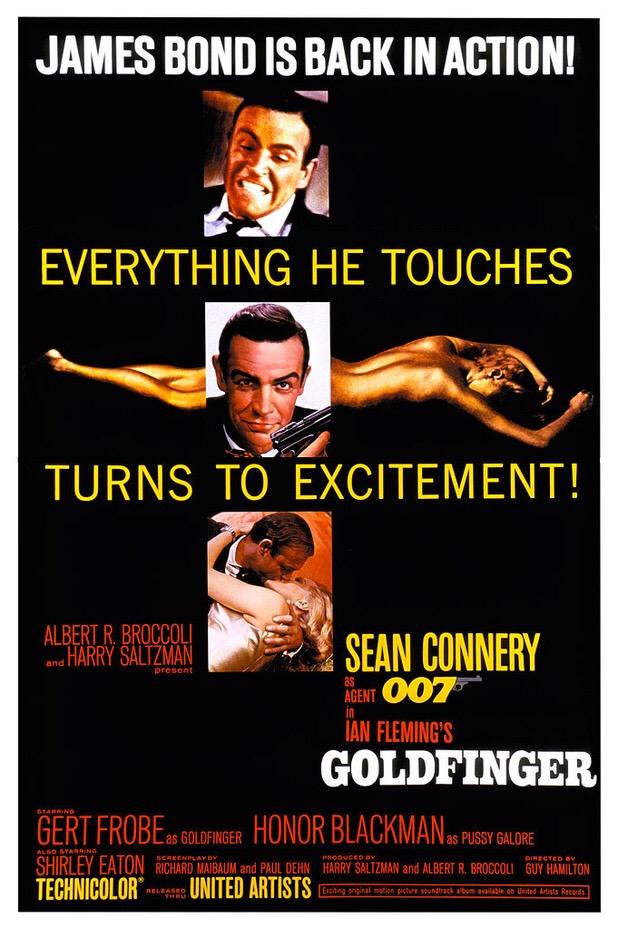 original Goldfinger movie poster