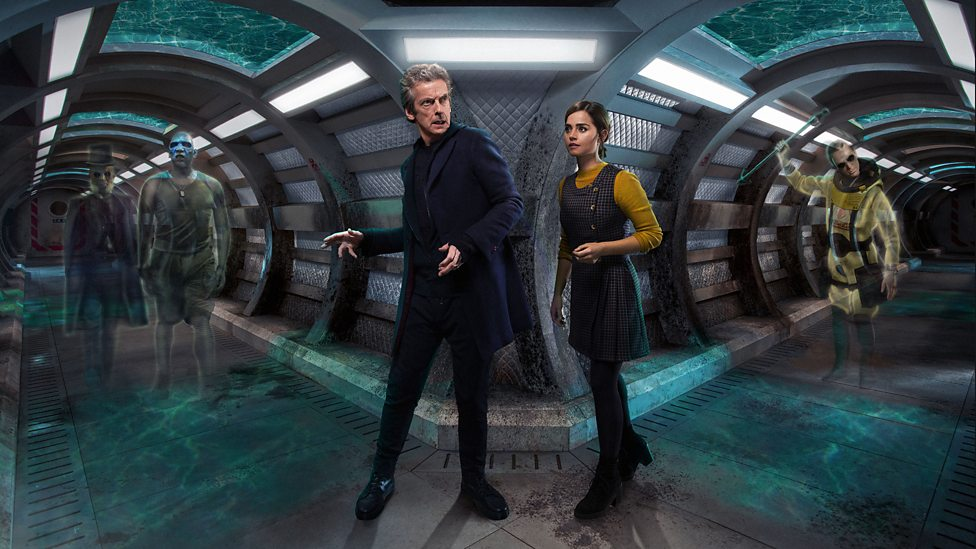 Peter Capaldi and Jenna Coleman in the Series 9 episode 'Under the Lake'