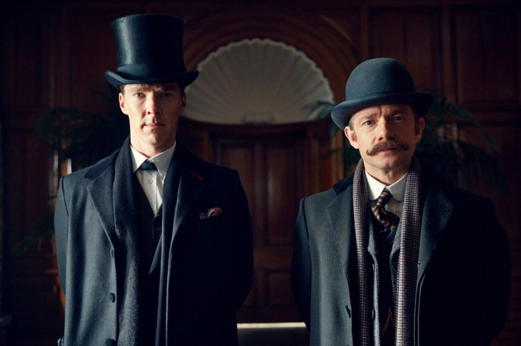 Sherlock The Abominable Bride Sherlock and John at Diogenes