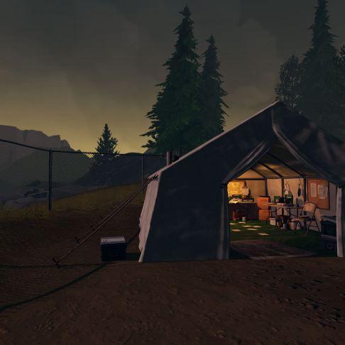 Firewatch screenshot Wapiti Station research tent