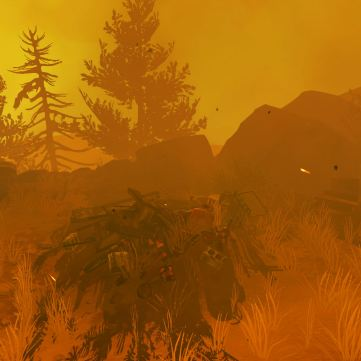 Firewatch screenshot Ned's fire