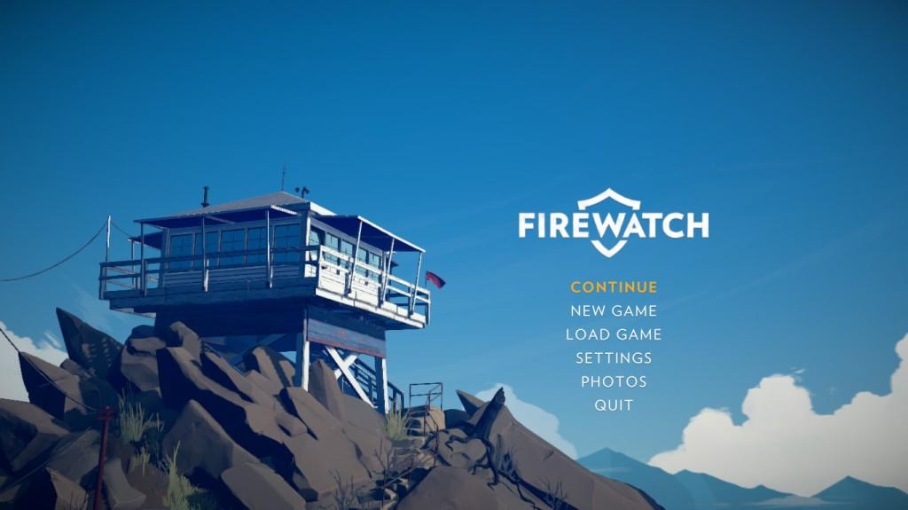 Title menu screen in Firewatch (game)