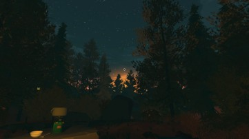 Firewatch screenshot Henry's first night in the park