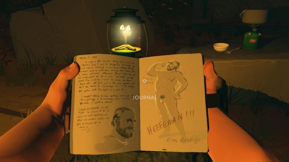 Firewatch screenshot Julia's journal