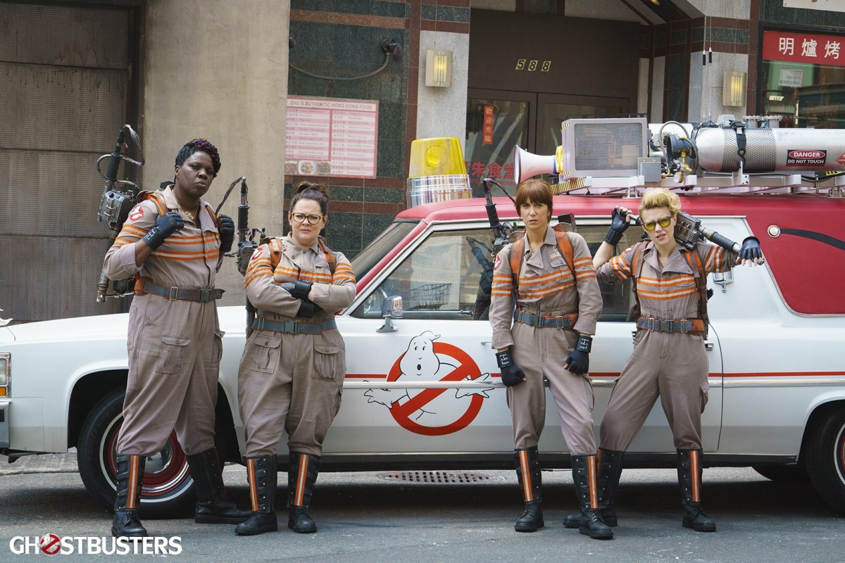 Leslie Jones, Melissa McCarthy, Kristen Wiig, and Kate McKinnon are the new Ghostbusters