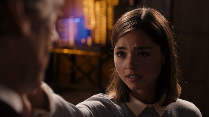 Clara says goodbye to the Doctor before facing the raven