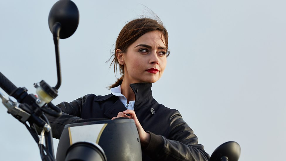 Jenna Coleman in a double role as Bonnie in Doctor Who Series 9