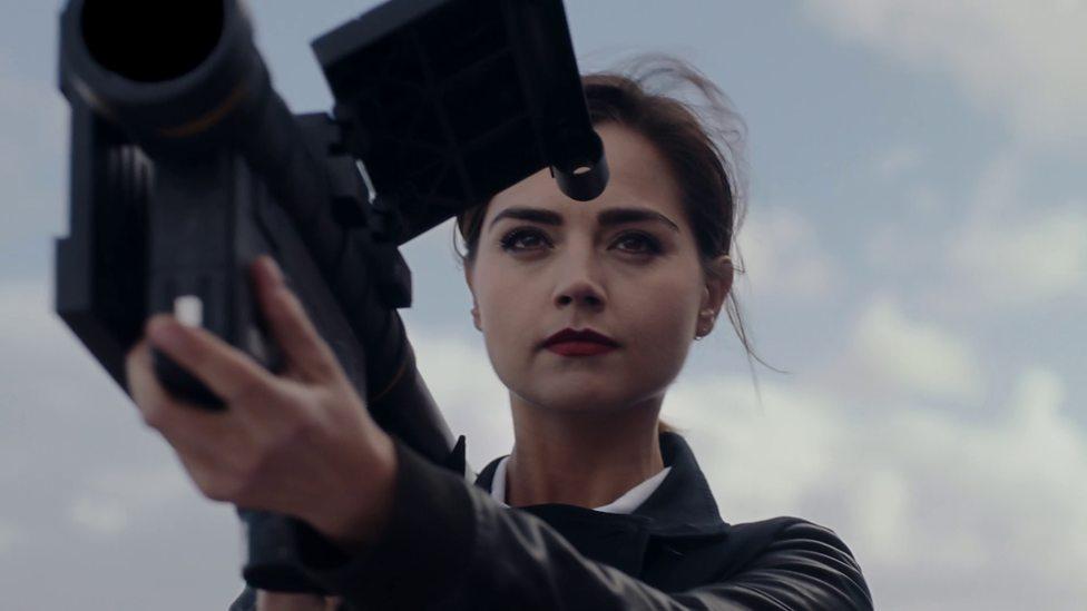 Clara plays Bonnie in the Zygon Invasion.