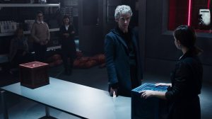 Peter Capaldi as the Doctor in The Zygon Inversion.