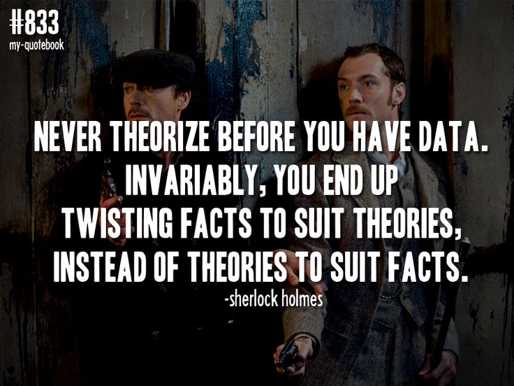 Sherlock Twisting Facts To Suit Theories
