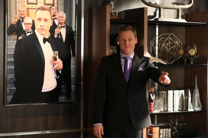"POWERLESS -- ""Wayne or Lose"" Episode 102 -- Pictured: Alan Tudyk as Van -- (Photo by: Evans Vestal Ward/NBC)"