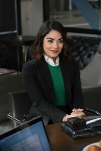 "POWERLESS -- ""Wayne or Lose"" Episode 102 -- Pictured: Vanessa Hudgens as Emily -- (Photo by: Evans Vestal Ward/NBC)"